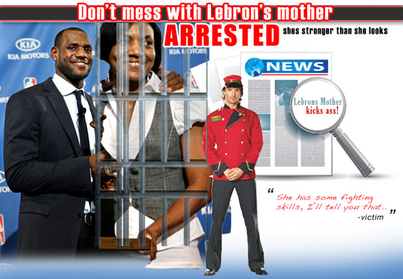 LeBron's Mom Assaults Valet in Miami!