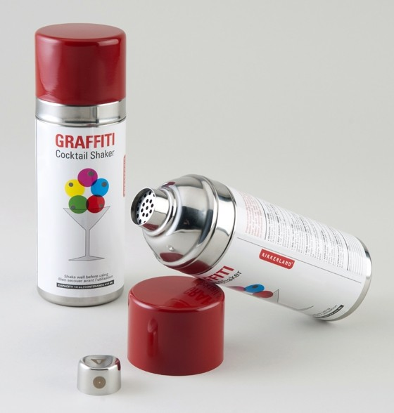 Graffiti Cocktail Shaker by William Kellogg