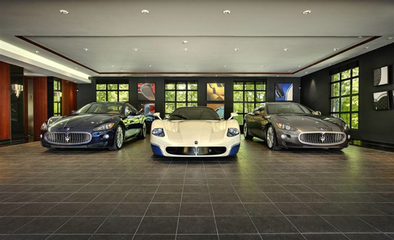 a collection of absolutely insane garages. Black Bedroom Furniture Sets. Home Design Ideas