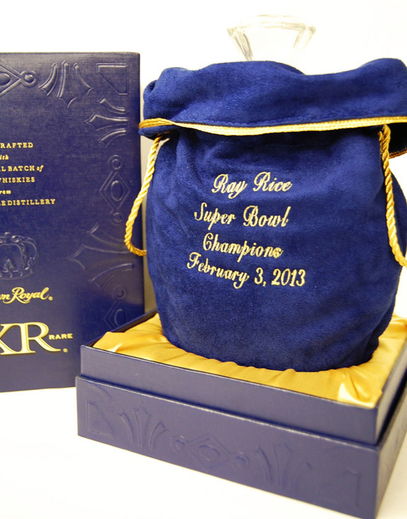 Custom Embroidered Crown Royal XR Bag