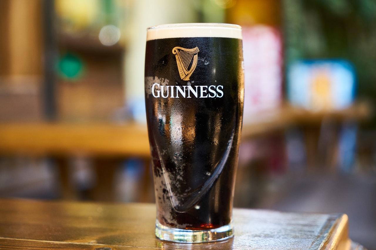 Danielle Lloyd Drinking Guinness