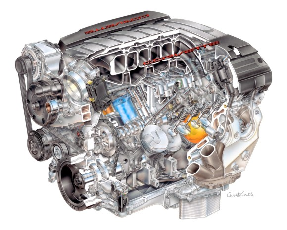 Chevrolet GM LT1 Corvette Small Block Engine