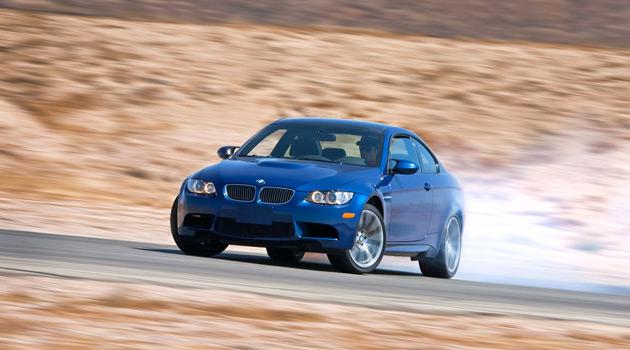 BMW racing on a track