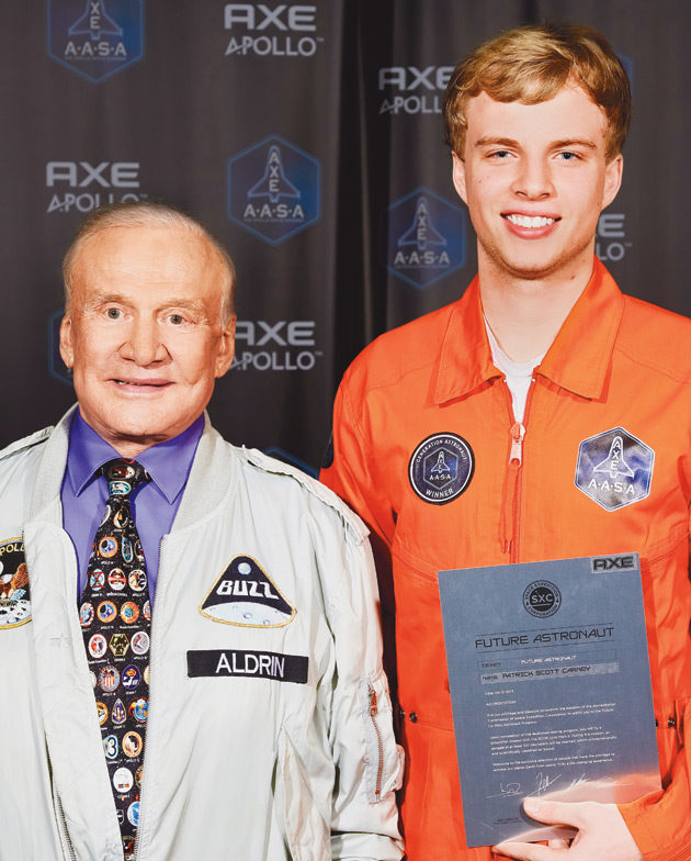Buzz Aldrin and Patrick Carney