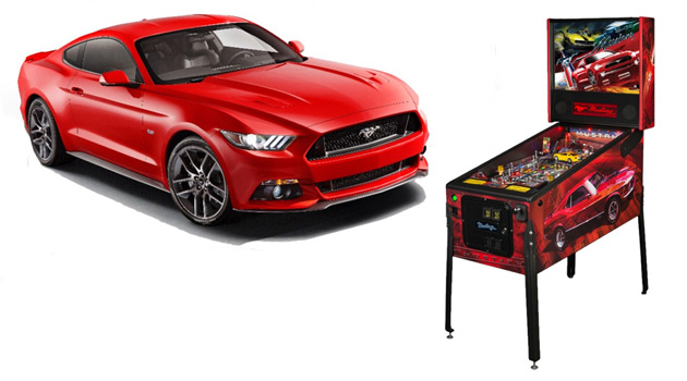 Stern Mustang-Themed Pinball Machine