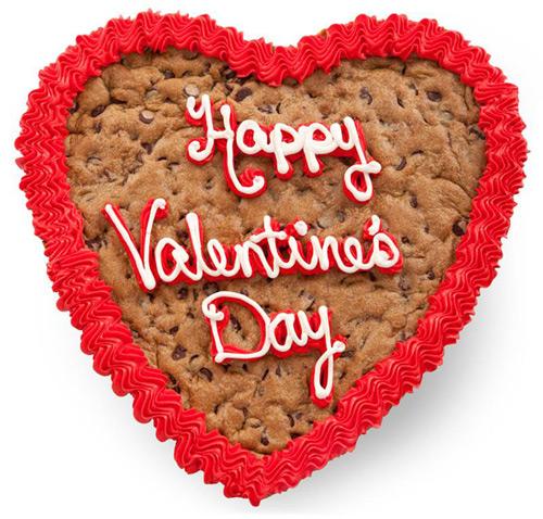 Mrs. Fields Valentine's Day Heart Cookie Cake