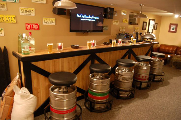 Man Cave Drinks Bar : Creating a ufc mman cave