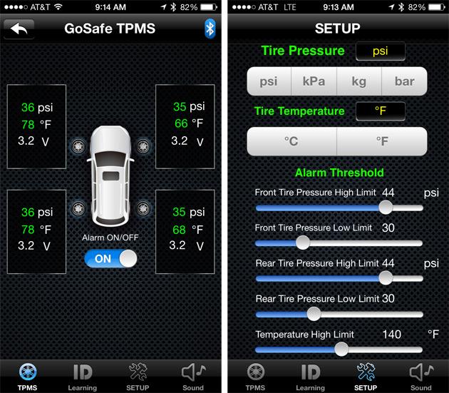 GoSafe-TPMS-500BT-app