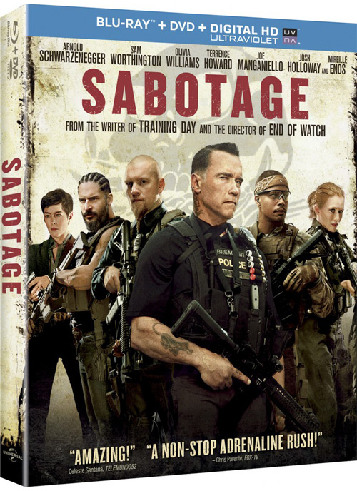 Sabotage Blu-ray Combo Pack