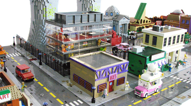 The Simpsons - Springfield as LEGOs