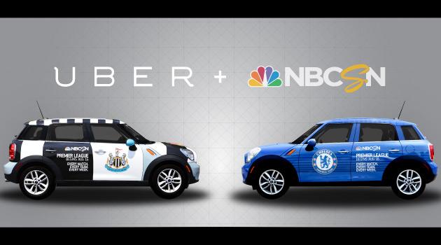 Uber Premier League Club Mini Cooper Countrymans