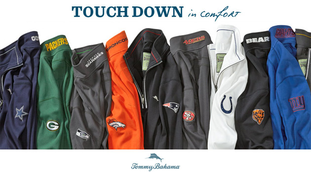b8c091f4 Tommy Bahama Offers Officially Licensed NFL Apparel for 2014 Season